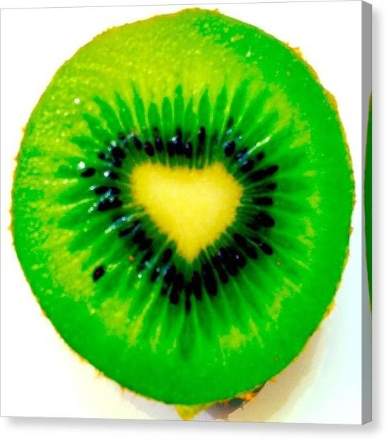 Kiwis Canvas Print - #kiwi Of Love by Mario Dazza