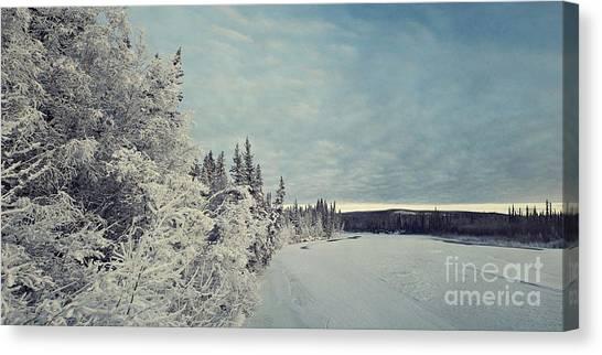 Yukon Canvas Print - Klondikeriver by Priska Wettstein