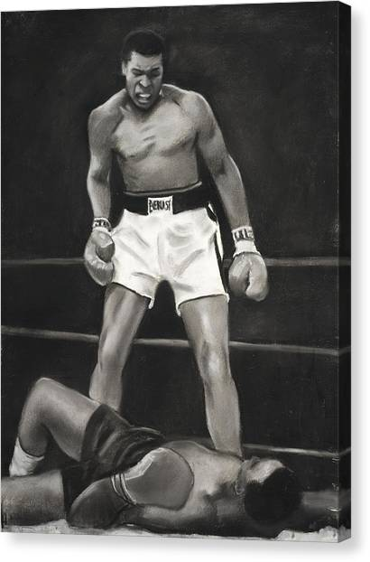 Knockdown Canvas Print by L Cooper