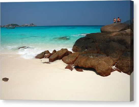 Ko Miang (island Four) Beach Canvas Print by Andrew Bain