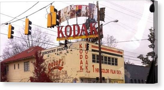 Kodak Building In Atlanta Canvas Print by Courtney Gainey