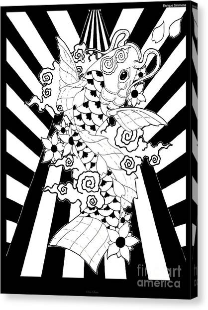 Koi Fish 3 Canvas Print by Enrique Simmons