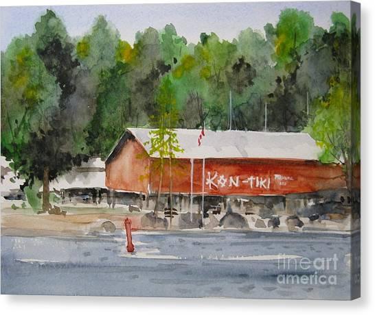 Kon Tiki Marina Lake Simcoe Canvas Print