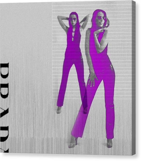 Sexy Canvas Print - Kristina In Purple by Naxart Studio