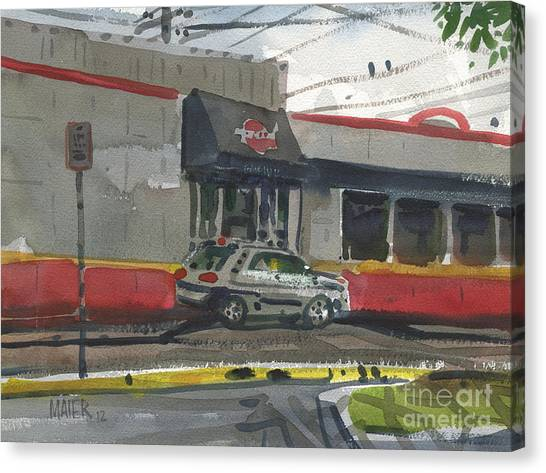 Fast Food Canvas Print - Krystal Drive-thru by Donald Maier
