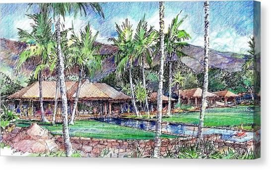 Kukio Estate Canvas Print by Andrew Drozdowicz