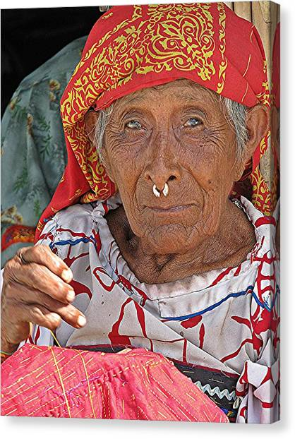 Kuna Lady Canvas Print