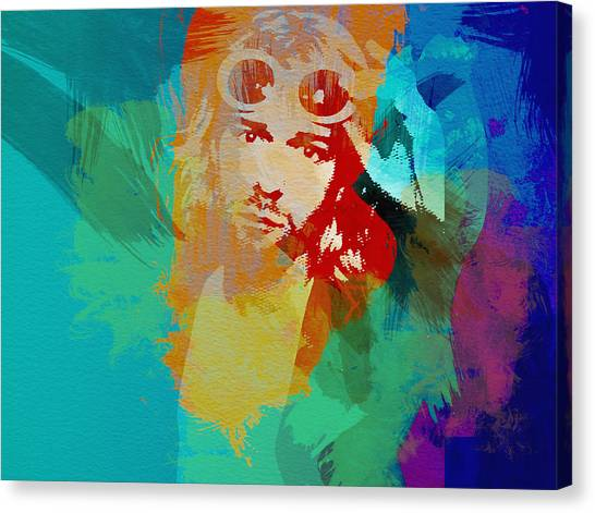 Nirvana Canvas Print - Kurt Cobain by Naxart Studio