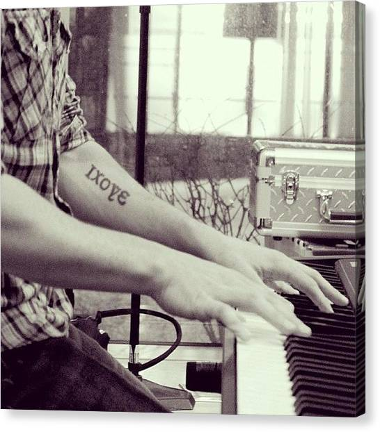 Piano Canvas Print - #kurtscobie #piano #singer #musician by Vicki Leggett