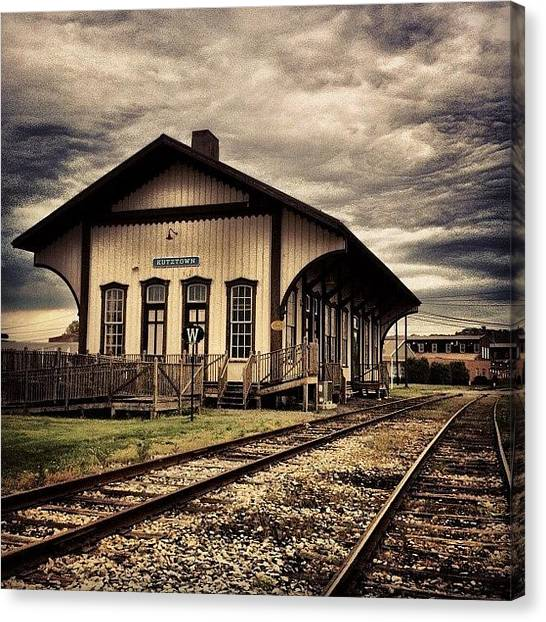 Scenic Canvas Print - Kutztown Train Station. #kutztown by Luke Kingma