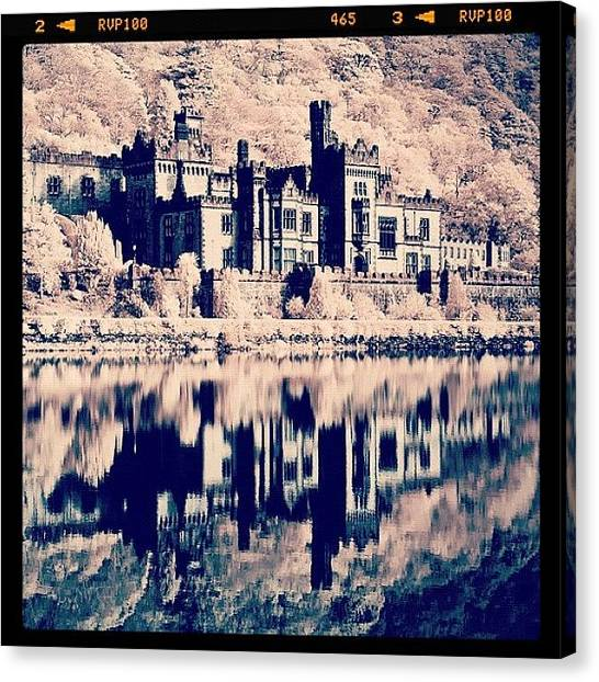 Surrealism Canvas Print - Kylemore Abbey, Ireland. Taken With by Magda Nowacka