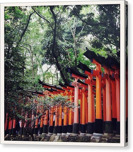 Judaism Canvas Print - Kyoto Torii by Marc Gascoigne
