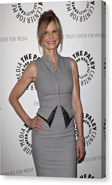 At A Public Appearance Canvas Print - Kyra Sedgwick Wearing An Antonio by Everett