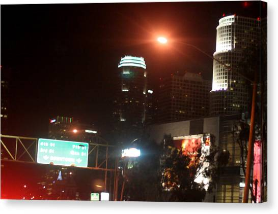 La At Night Canvas Print by Mille Kedlaw