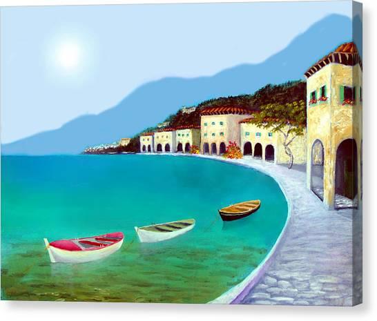 La Citta Sul Mare Canvas Print