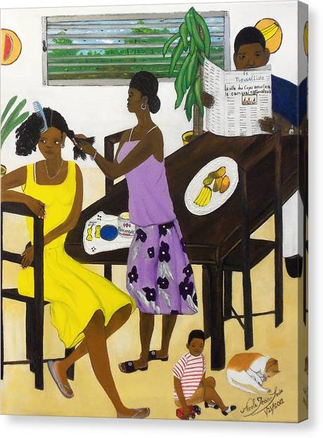La Famille Canvas Print