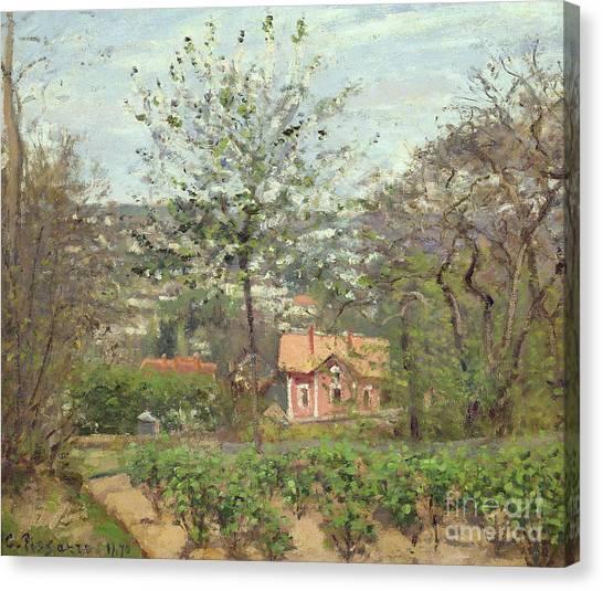Camille Canvas Print - La Maison Rose by Camille Pissarro