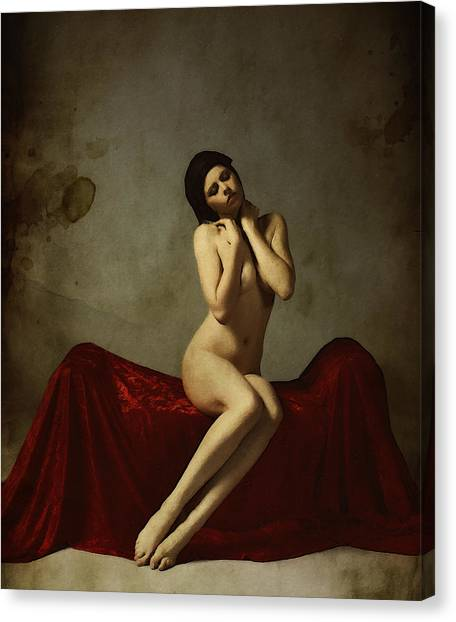 Neoclassical Art Canvas Print - La Musa Non Colpevole Aka The Innocent Muse by Cinema Photography
