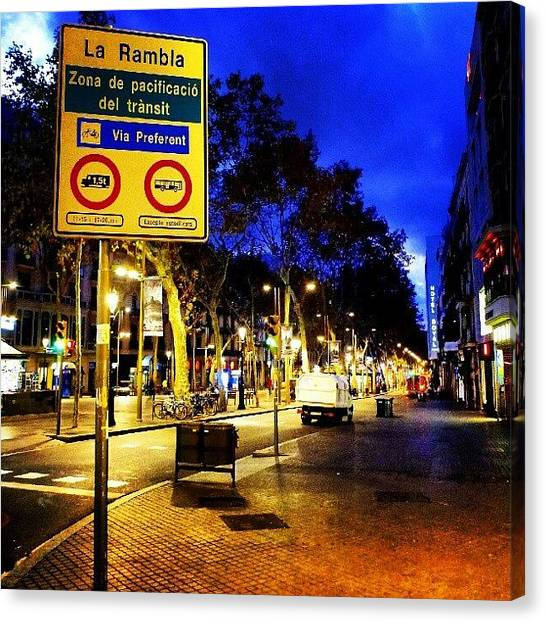 Vacations Canvas Print - La Rambla #streetphotography #street by Tommy Tjahjono