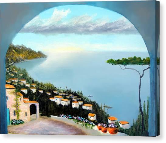 La Vista Del Mare Canvas Print