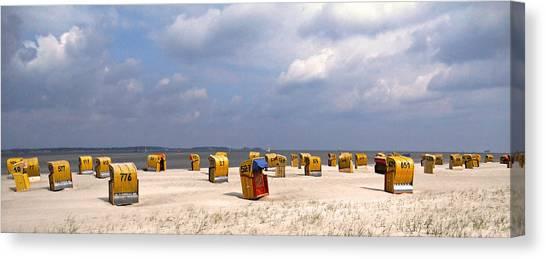Laboe Beach ... Canvas Print