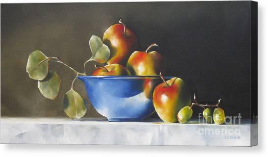 Lady Alice Apples Canvas Print by Daniele Lemieux