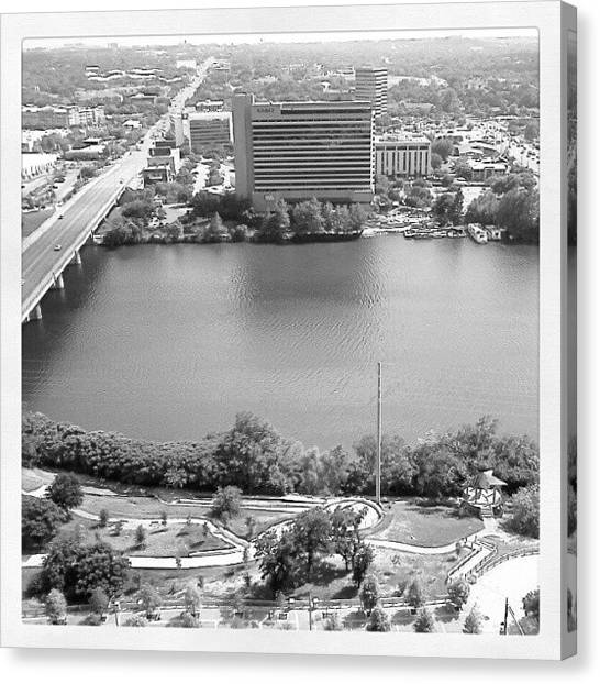 Universities Canvas Print - Lady Bird Lake Austin by James Granberry