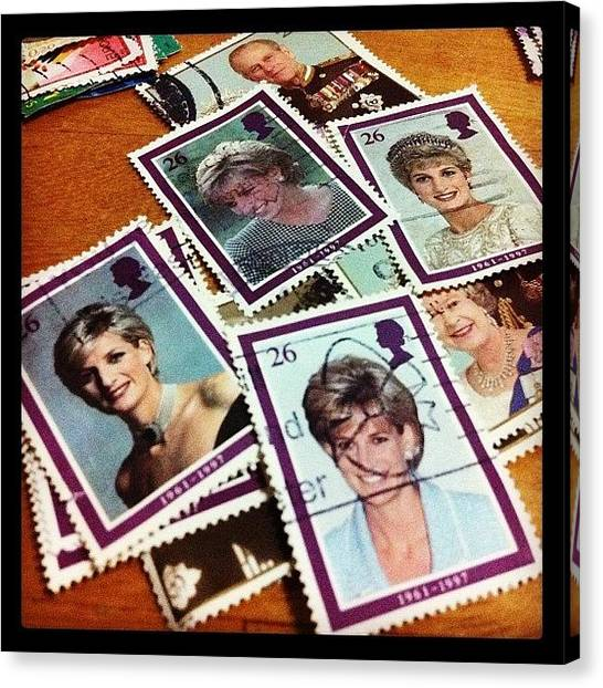 Princess Canvas Print - Lady D #sgig #princess #stamps by Eva C