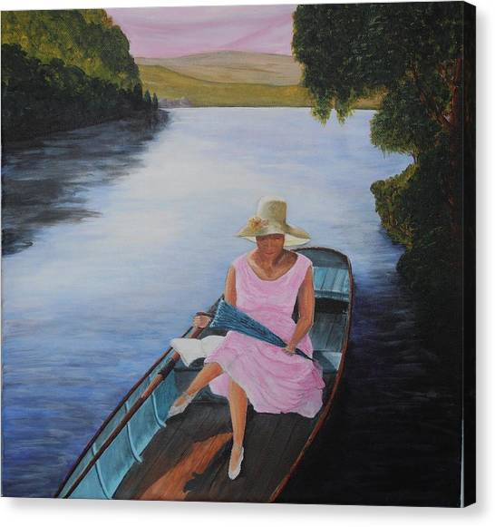 Lady In Pink Canvas Print by Siobhan Lawson