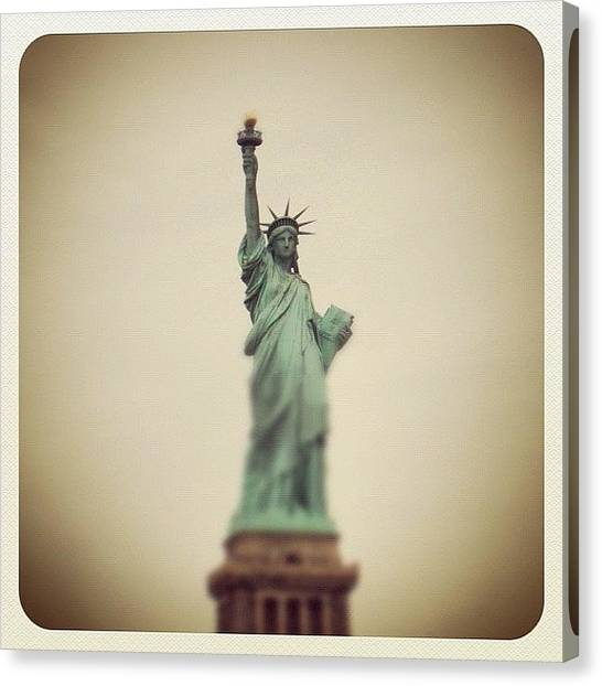 Statue Of Liberty Canvas Print - Lady Liberty by Carl Sevitt