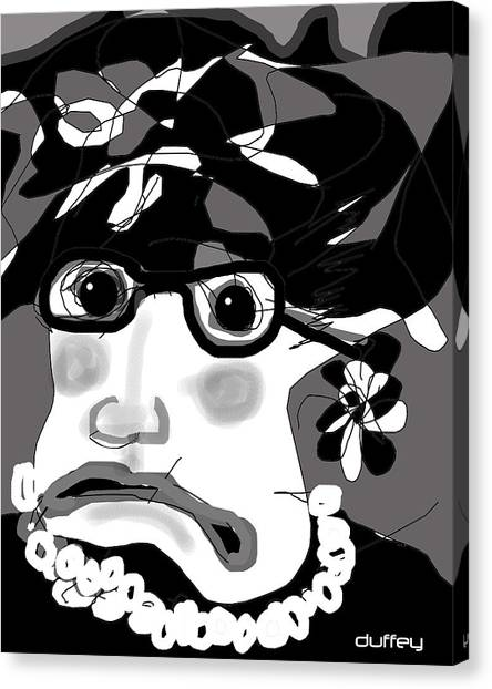 Lady Millicent Was Not To Be Outdone In The Crazy Hat Department Canvas Print