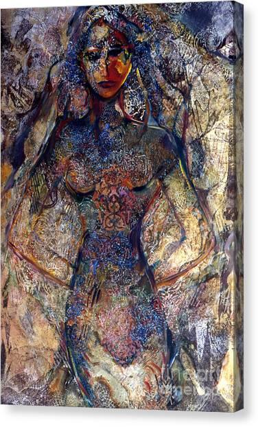 Lady Of Los Lunas Canvas Print by Charles B Mitchell