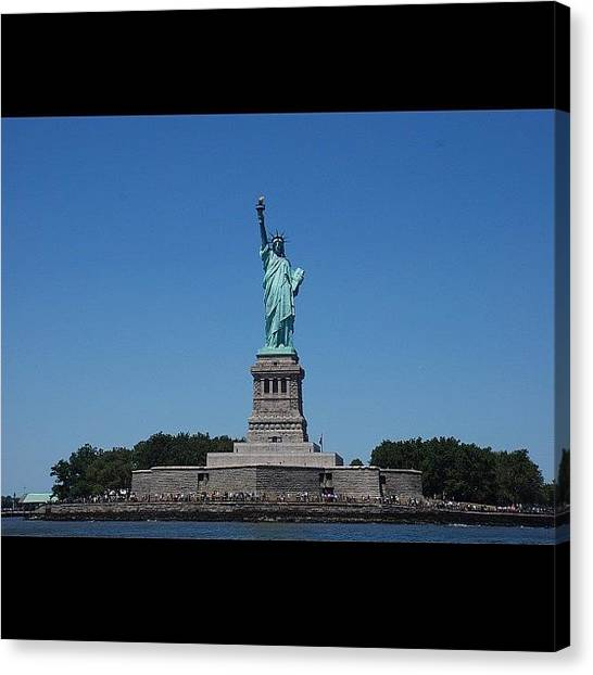 Kings Canvas Print - #ladyliberty #statueofliberty #outdoors by Cai King-Young