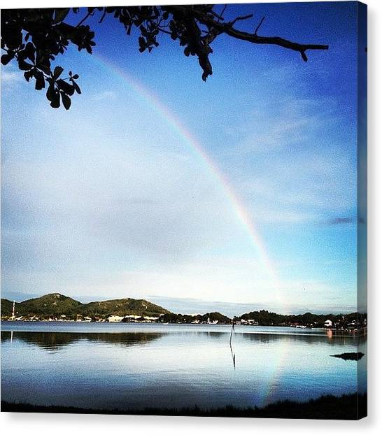 Rainbows Canvas Print - Lagoa Da Conceição - Floripa - Sc - by Avatar Pics