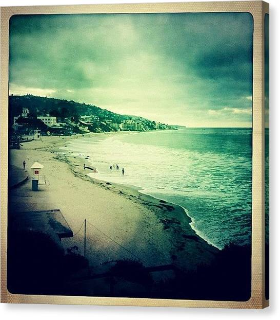 Ashes Canvas Print - #laguna Cloudy Day by Ash Eliot