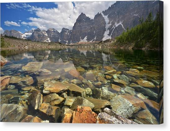 Canada Glacier Canvas Print - Lake Agnes by Bernard Chen