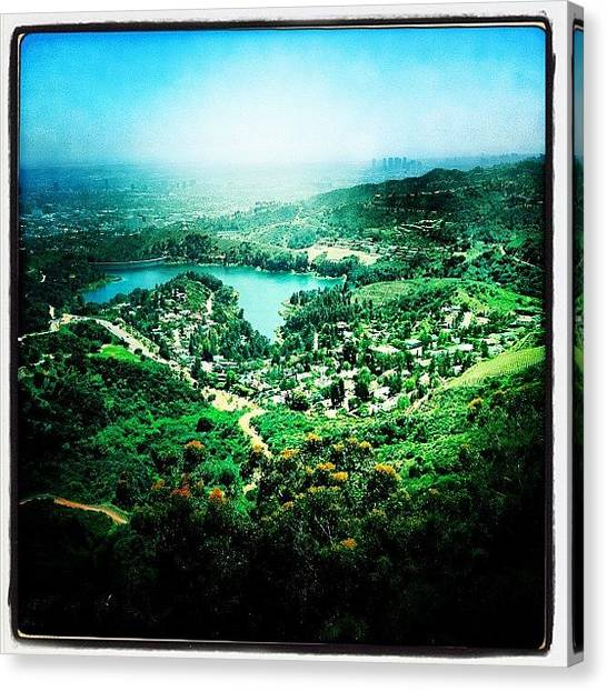 Hollywood Canvas Print - Lake Hollywood by Torgeir Ensrud