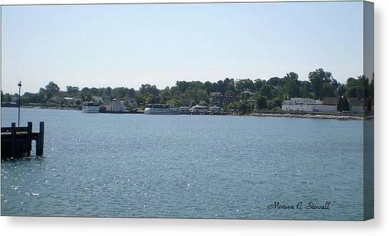 Lake Huron Shoreline Collection - St. Ignace Mi Harbor Canvas Print