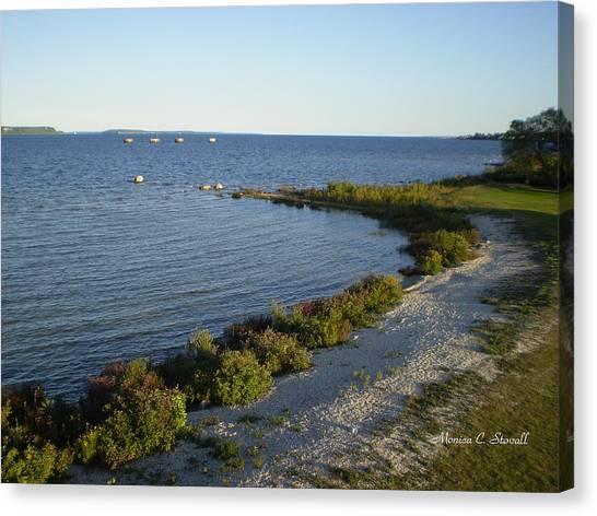 Lake Huron Shoreline Collection - St. Ignace Mi Canvas Print