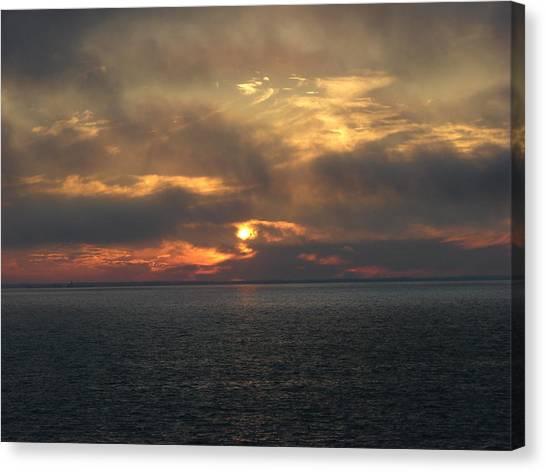 Lake Huron Sunset 3 Canvas Print