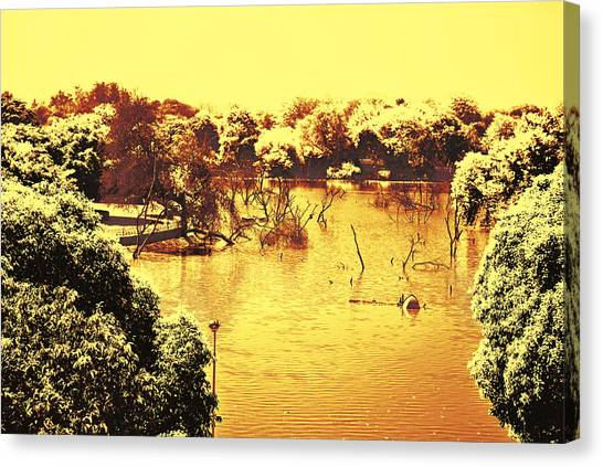 Lake In India Canvas Print
