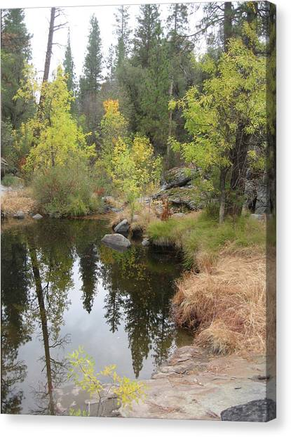 Natural Landscapes Canvas Print - Lake In Sierras by Naxart Studio