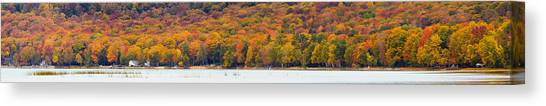 Northern Michigan Canvas Print - Lake Leelanau In The Fall by Twenty Two North Photography
