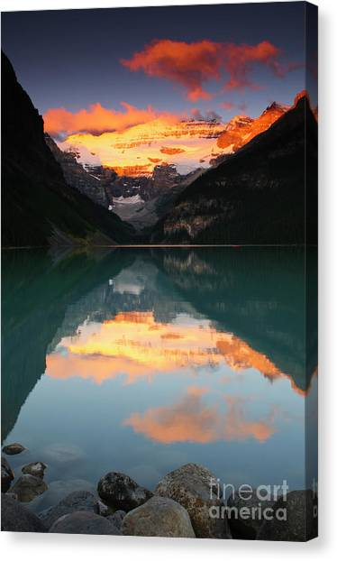 Canada Glacier Canvas Print - Lake Louise Sunrise by Ginevre Smith