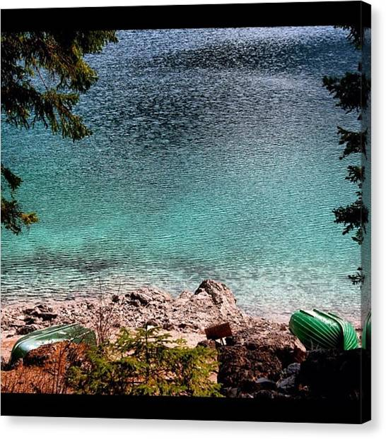 Drink Canvas Print - Lake by Luisa Azzolini
