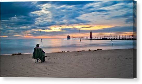 Lake Michigan Fishing Canvas Print