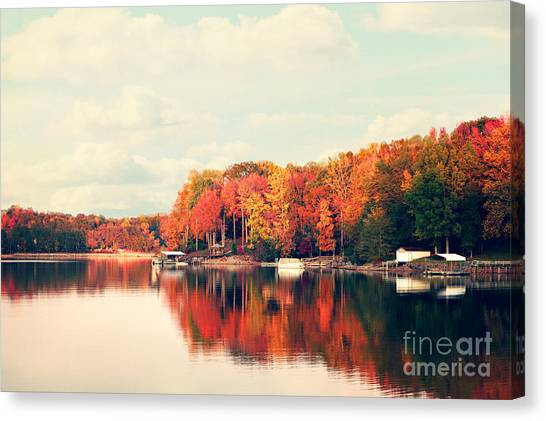 North Carolina Canvas Print - Lake Norman North Carolina by Kim Fearheiley