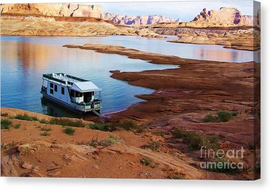 Lake Powell Houseboat Canvas Print