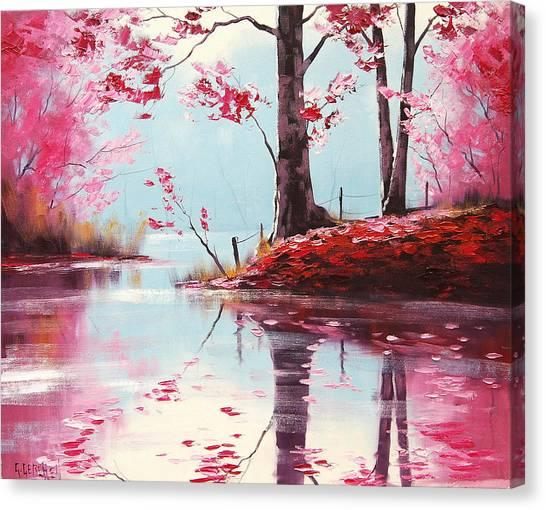 Lake Reflections Canvas Print by Graham Gercken