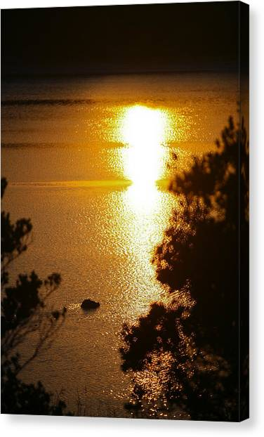 Lake Sunrise Canvas Print by Miguel Capelo